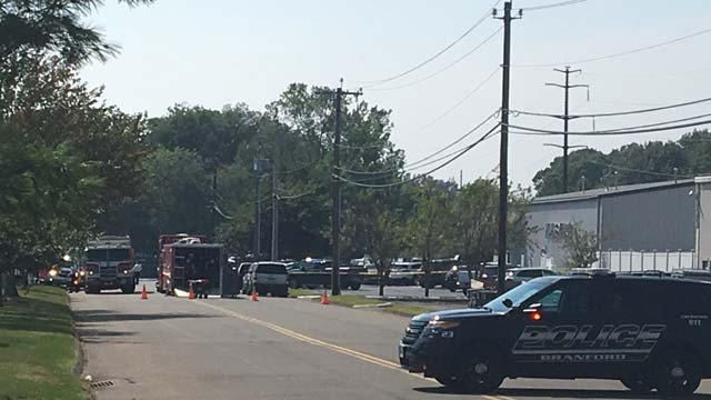 A hazmat team was called to a business in Branford on Tuesday afternoon (WFSB)