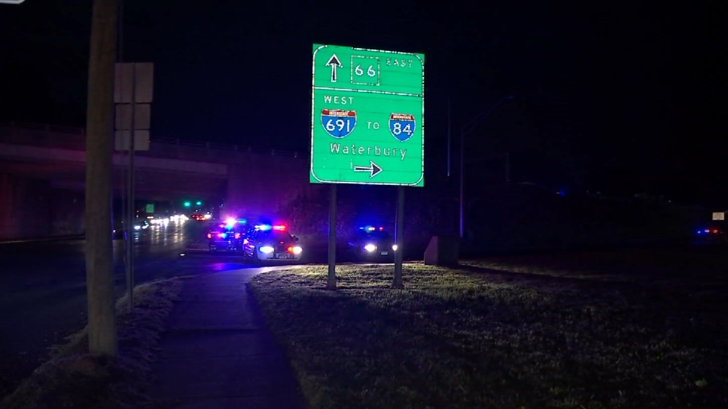 A man was struck and killed on I-691 on Friday. (WFSB)