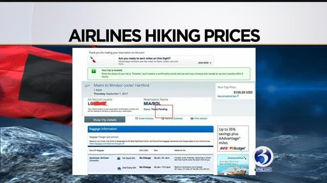 Airline tickets are soaring as people are scrambling to get out of Florida (Submitted/WFSB)