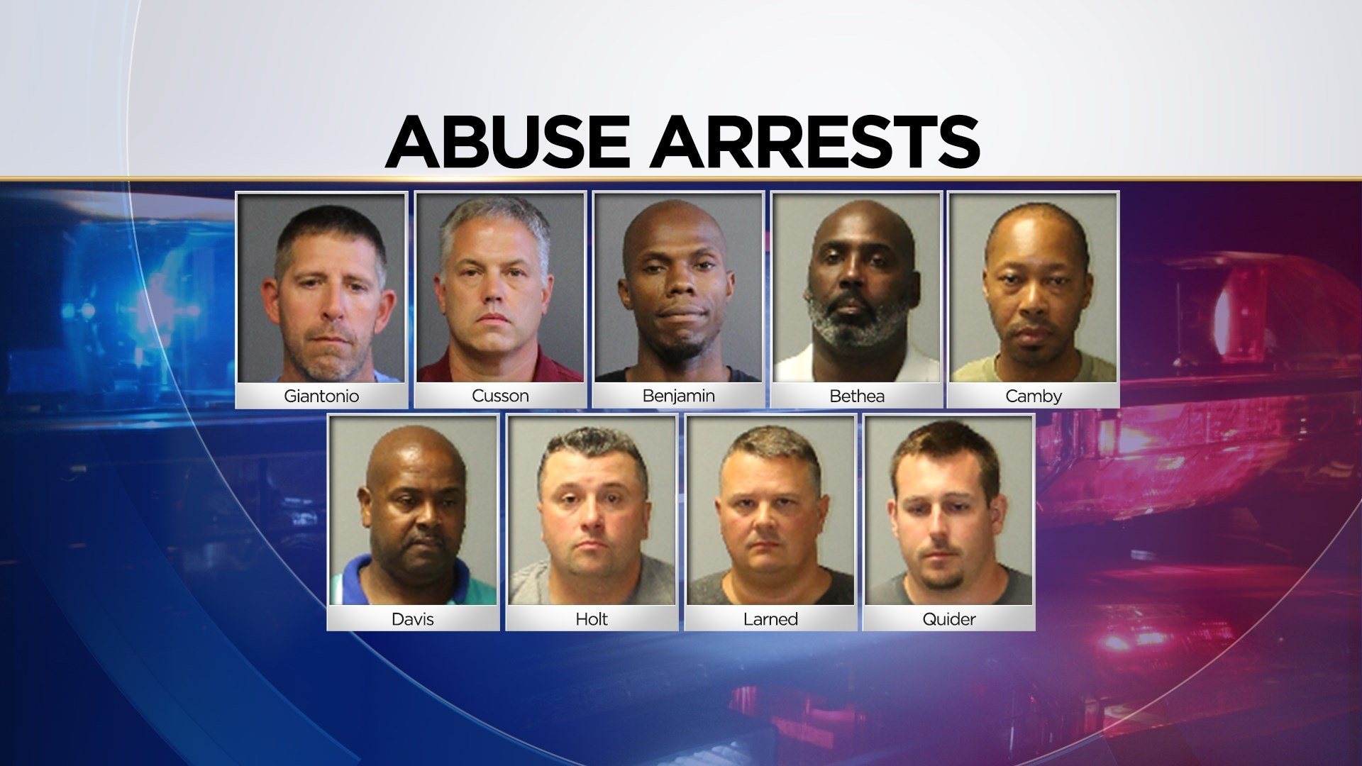 Nine men were arrested following abuse allegations (CVH/WFSB)