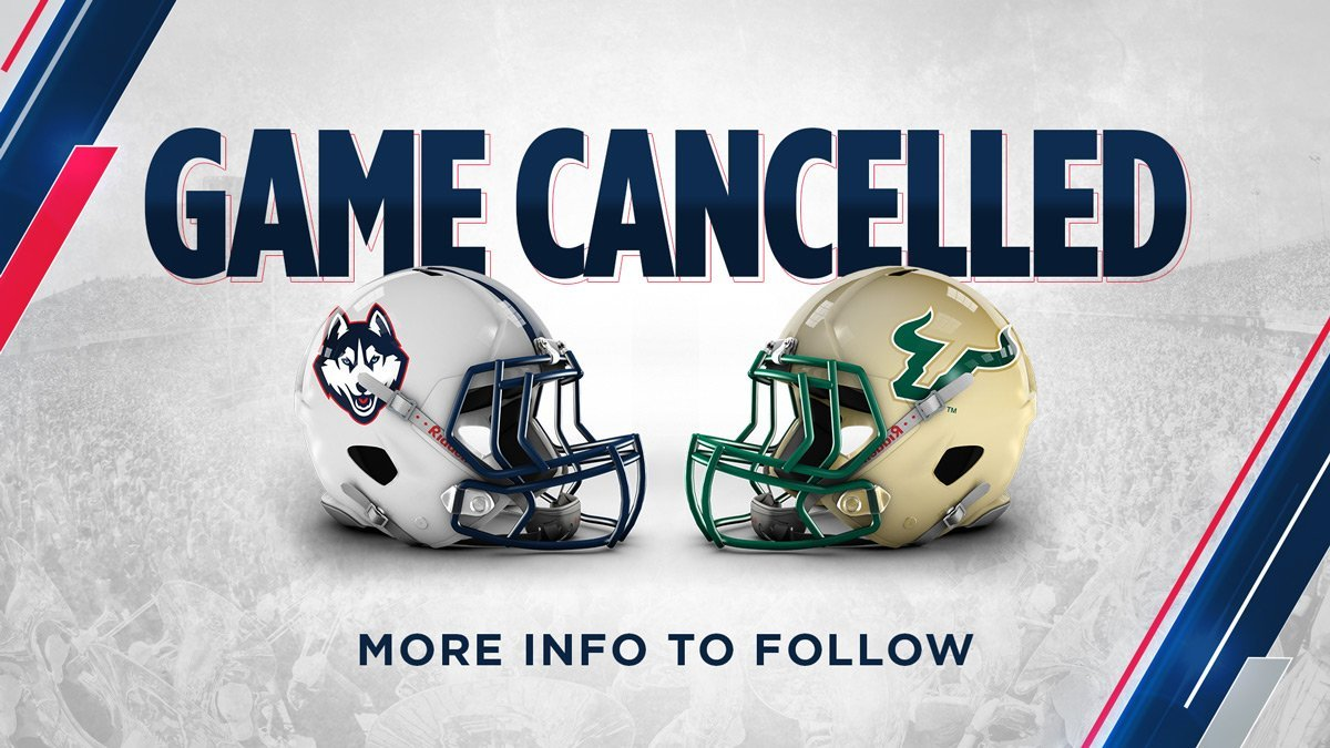 Huskies game against South Florida has been canceled (@UConnFootball)