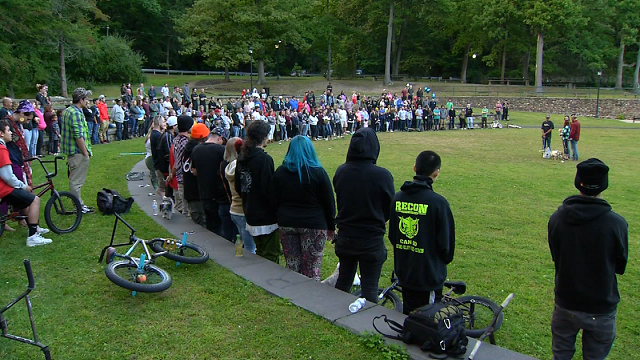 Dozens came out to honor the memory of man killed in a motorcycle accident one week ago in Bristol. (WFSB)