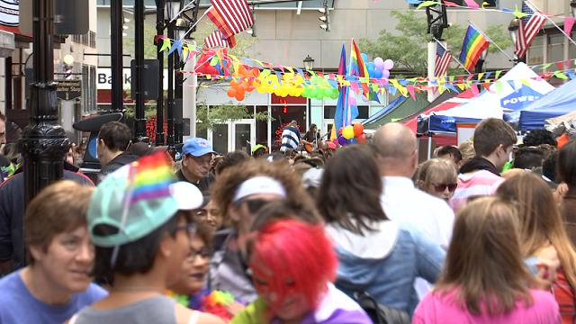 """The 3rd annual """"Pride Fest"""" event kicked off its weeklong celebration in the Capital city on Saturday afternoon. (WFSB)"""