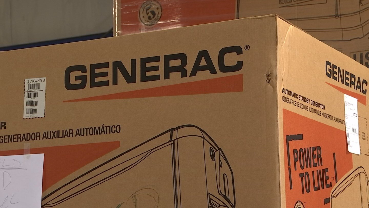 Ron Swaney of Generators on Demand in Old Lyme said he expects to receive calls about generators in the coming days. (WFSB)