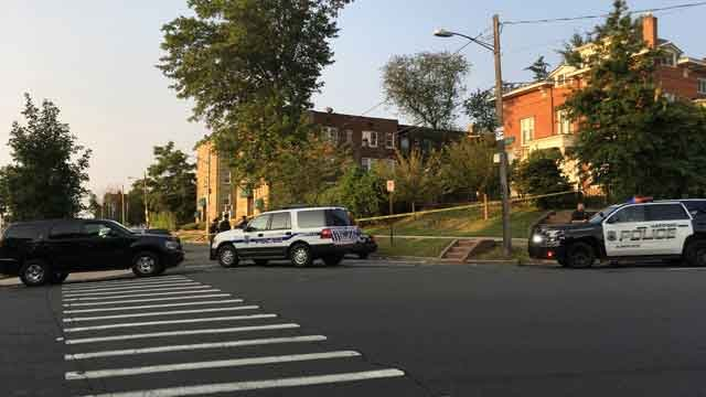 Hartford police are investigating a shooting in the area of Spring and Myrtle streets on Monday morning. (WFSB)