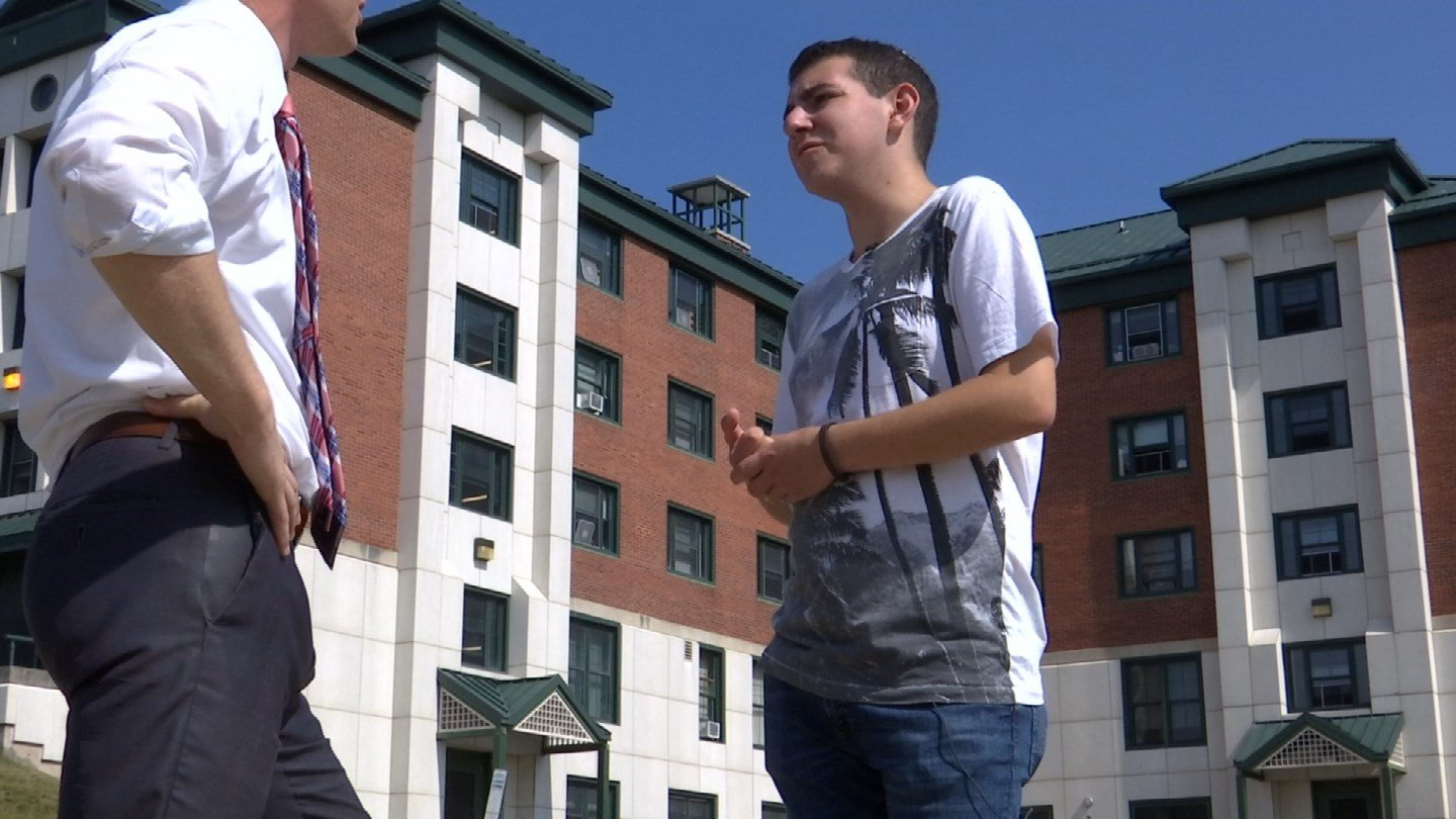 Nathan Schachter said someone yelled an anti-Semitic comment at him while he was walking on the UConn campus. (WFSB)