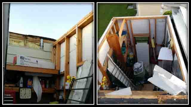 The Preli's suffered damage to their home from Hurricane Irma (Preli family)