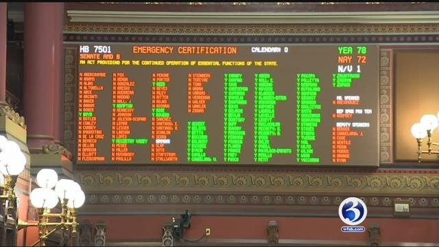 The House passed the GOP state budget early Saturday morning. (WFSB)