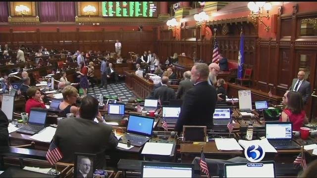 Lawmakers were at the State Capitol until the early hours on Saturday. (WFSB)