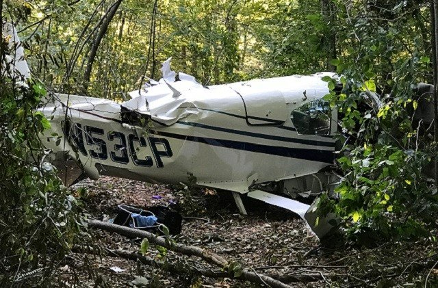 The plane owned and operator by Pilot Charles Dundas crashed, killing Dundas and Christopher. (WFSB)