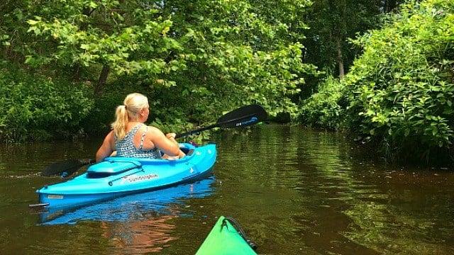 Kayaking on the Salmon River