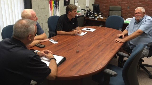 Officials in East Lyme met on Monday morning to discuss preparations for Jose. (WFSB)