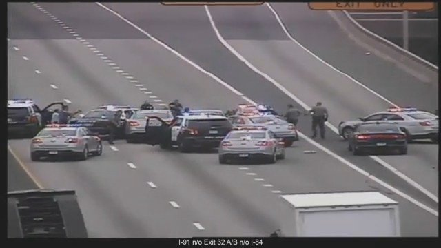 VIDEO: I-91 southbound in Hartford closed after police pursuit