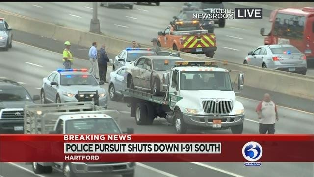 VIDEO: Police pursuit, crash in Hartford caught on camera