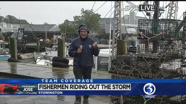 Fishermen riding out storm in CT
