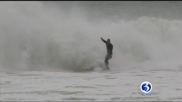 Surfers headed to Westerly beaches on Tuesday (WFSB)