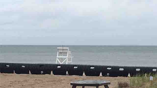 A Wave Muffler is set up in hopes of preventing damage and erosion (WFSB)