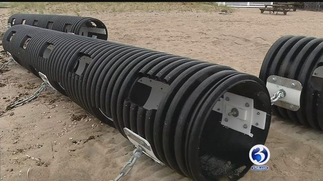 Shoreline man's 'Wave Muffler' could be answer to beach erosion