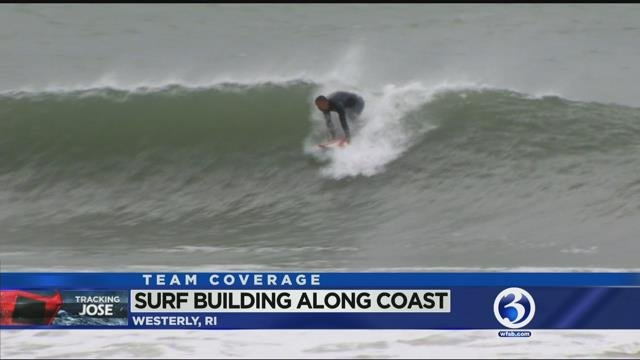 VIDEO: Surfers ride the waves as Jose nears New England