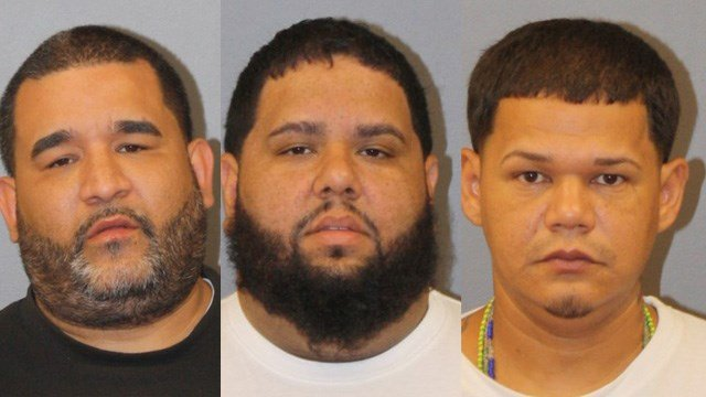 Luis Velasquez, Jose Torres and Wilson Zayas were arrested for a home invasion in East Windsor, according to police. (East Windsor police)