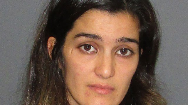 Aziza Djalmamedova was arrested after police said she did not properly care for a two-year-old child last week. (Glastonbury  Police Department)
