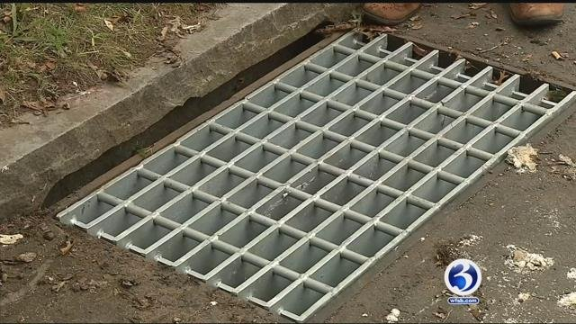Grates from catch basins are being stolen in New Haven (WFSB)