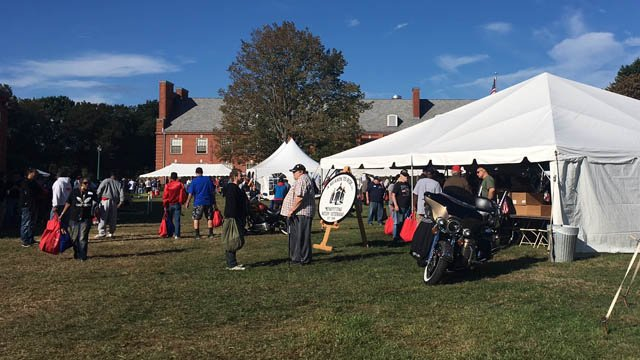 Veterans seeking some help attended the 'Stand Down 2017' event in Rocky Hill on Friday. (WFSB)