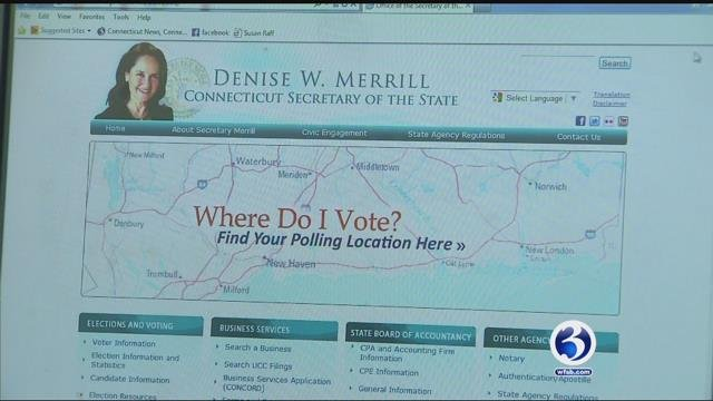 Connecticut officials have been notified that Russians scanned election system. (WFSB)