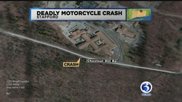 Police are investigating a deadly crash in Stafford on Saturday morning. (WFSB)