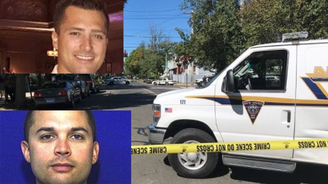 Two New Haven officers, Scott Shumway and Eric Pessino, were released from the hospital after being shot in New Haven on Saturday. (WFSB)