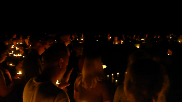 Mill Pond Park was a sea of candlelight as friends and family gathered in prayer, song, and hugs for Patricia Torbicki. (WFSB)