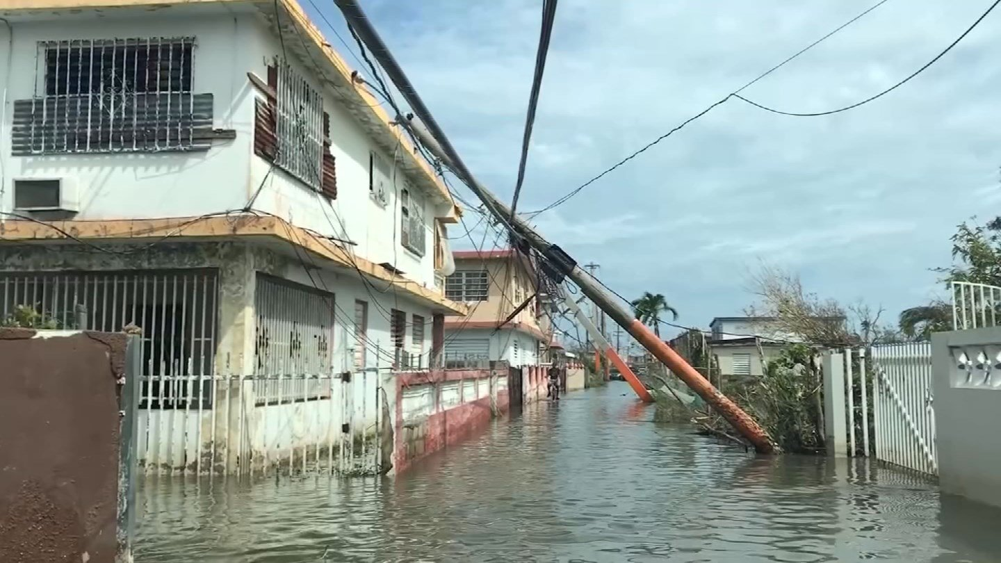 Flooding by Maria in Puerto Rico. (CNN photo)