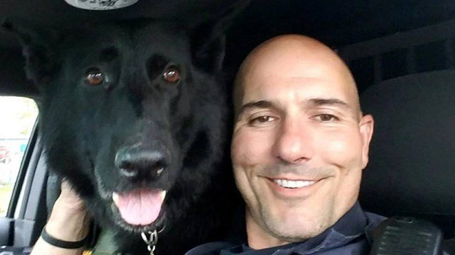 TFC Nicholas Leary and his K9 companion, Elvis, will be retiring this coming weekend. (State police)