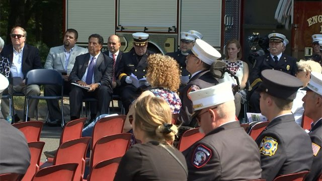 More than 300 Connecticut firefighters killed on the job were honored on Sunday. (WFSB)