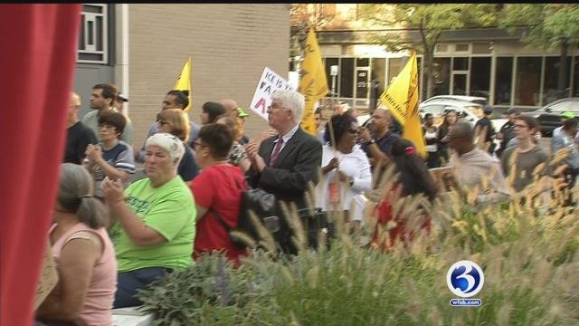 Arrests made after rally held for Meriden couple ordered to leave the country