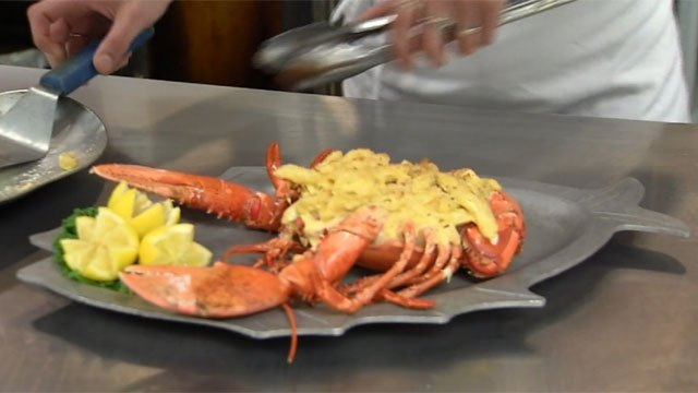 Flanders was servings its special stuffed lobster macaroni and cheese on Monday. (WFSB)
