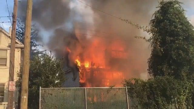 Crews battle massive fire in Stamford