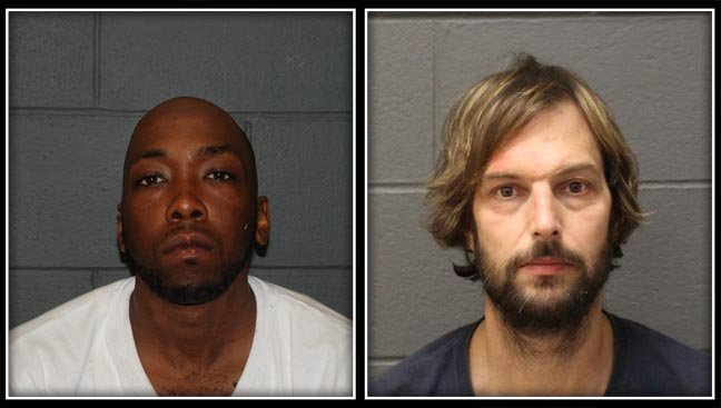 Lamar McCarthy and Norman Renaldi are accused in a Southington bank robbery and carjacking incident from June (Southington Police)