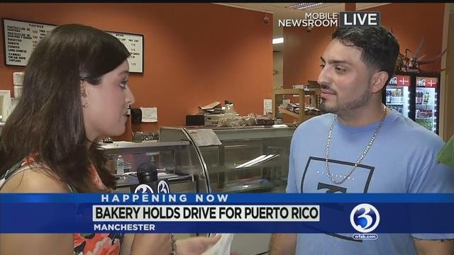 VIDEO: Manchester bakery whips up donations for Puerto Rico