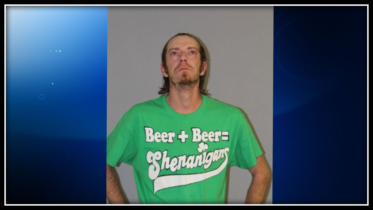 Nathan Corey was caught wearing this shirt when he was arrested for DUI in Danielson this weekend. (CT State Police)