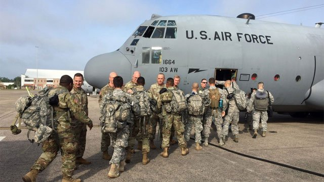 A crew of 13 Guardsmen from the Connecticut National Guard were sent to help those impacted by the hurricanes in Puerto Rico. (Connecticut National Guard)