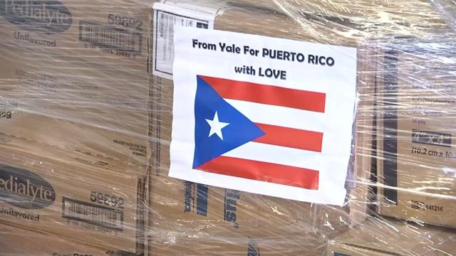A doctor organized a drive to send medicine and supplies to Puerto Rico (WFSB)