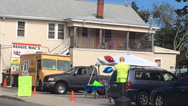 The collection is happening on Jefferson Street in New London. (WFSB)