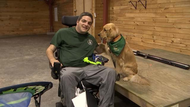 Some Connecticut service dogs graduated from their training on Wednesday (WFSB)