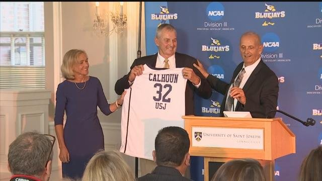 The Univ. of St. Joseph and the NCAA announced that former UConn basketball coach Jim Calhoun will join the school as a basketball consultant. (WFSB)