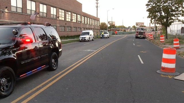 Homestead Avenue in Hartford was closed after a void was found underneath the road. (WFSB)