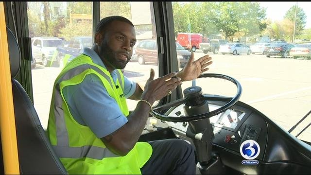 CTTransit bus driver Brian Austin is being praised as a hero after how he handled a head-on crash. (WFSB)