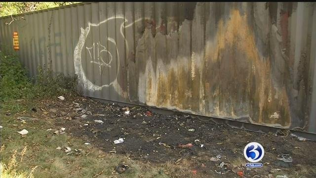 A shed for Hartford Hurricanes caught on fire at Keney Park on Thursday.(WFSB)