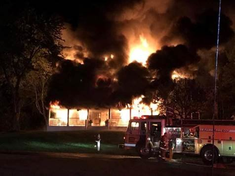 The house fire was on 12 Church View Drive (Photo Courtesy of Oxford Fire Department)