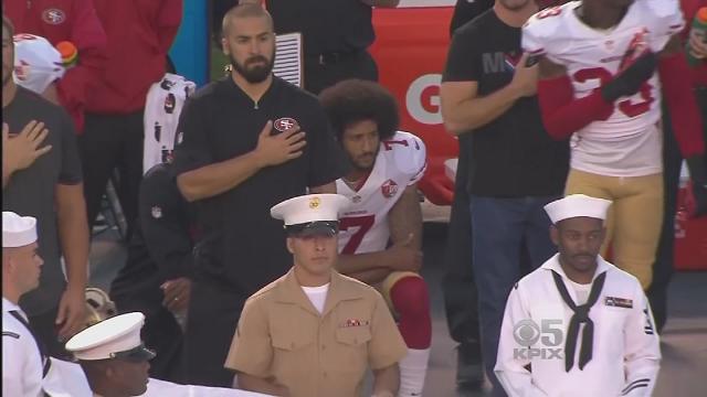 In 2016, former San Francisco 49er quarterback Colin Kaepernick knelt to protest police brutality and racial injustice. (WFSB)